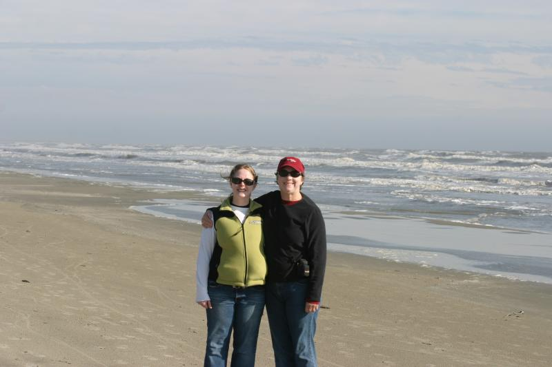 Sarah and Sandy on the beach